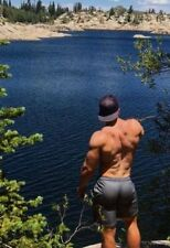 Shirtless Male Beefcake Hunk Muscular Body Builder Nice Back View PHOTO 4X6 F653