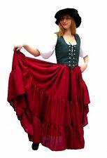 RENAISSANCE DRESS-UP HALLOWEEN PIRATE WENCH FAIR COSTUME BELLY DANCE SKIRT SkS25