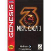 Mortal Kombat 3 - Sega Genesis Game *CLEAN VG