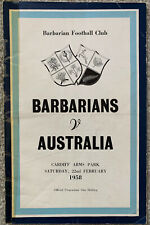More details for barbarians v australia 1958 rugby union