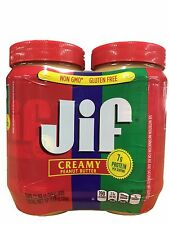 Jif Creamy Peanut Butter Two 48 oz Jars Twin Pack 6LB