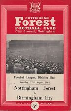 NOTTINGHAM FOREST v BIRMINGHAM CITY ~ 22 AUGUST 1964
