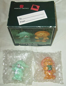 Care Bears Ceramic Christmas Ornaments Caroling Cousins New in Box 1987 RARE