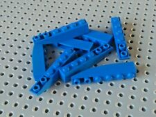 Lego Slope Inverted Curved 6x1 [42023] Blue x8