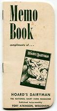 "1970-71 ""HOARD'S DAIRYMAN"" Magazine Promo Giveaway - Pocket Memo Book"