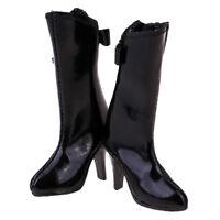 1/6 6cm High Heel Knee-high Black Boots for 12'' Phicen Kumik CG, CY Hot Toy