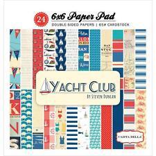 Scrapbooking Crafts Carta Bel 6X6 Paper Pad Yacht Club Nautical Anchors Stripes