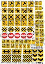 SCALELIKE INDUSTRIES HO-ROADWAY SIGNS 3 (HORS-3) PRINTED ON PLASTIC FACTORY NEW