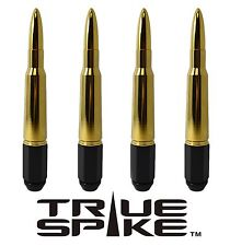 16 VMS RACING 7 INCH 12X1.5 STEEL LUG NUTS W/ 24K GOLD 50 CAL BULLET SPIKES D