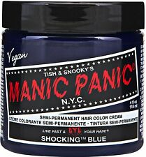 Manic Panic Semi Permanent Hair Color Cream Shocking Blue 4 oz (Pack of 2)