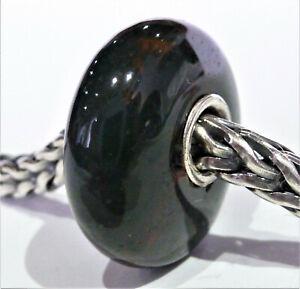 Trollbeads Glas Schwarz und 925 Silber Unikat sehr Schön!