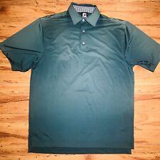 Footjoy Mens M Green Short Sleeve Athletic Golf Polo Collar Fj GUC