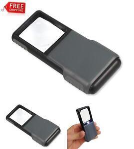 5X Pocket Loupe Aspheric Mini Magnifier Led Light Magnifying Lens Reading Glass