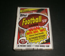 1984 Topps Football Cello Pack - JOE MONTANA TOP CARD