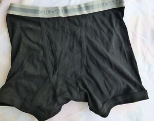 Gildan  Mens  Boxer Brief Size Med 32-34  Black  New without Tags 100% Cotton
