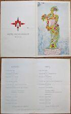 Italian Menu: 1968 Hotel Michelangelo, Rome, Italy / Roma, Italia-Lunch & Dinner