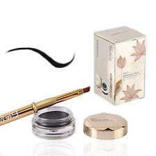 Noir Waterproof Eye Liner Yeux Gel Eyeliner Maquillage Crème Cosmétique + Brosse