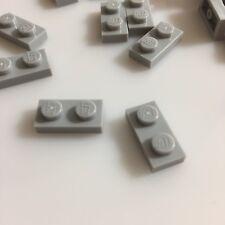75 NEW LEGO Medium Stone Grey 1x2 Plates (ID 3023 / 4211398) gray star wars
