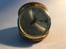 Westclox Travel Alarm Clock Day Date Windup Alarm Vintage 60's
