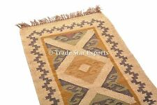 Decorative Kelim Area Rug Runner Hand Woven Kilim Rug 2x3 Vintage Throw Carpet