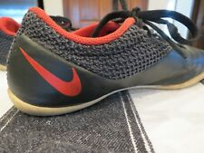 No Reserve! Nike Indoor/Futsal Boys' Gold/Red Swoosh Shoes - Size 5.5Y