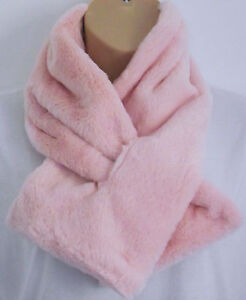 Luxurious Winter Faux Fur Pink Wrap Infinity Scarf Snood - Xmas Gift