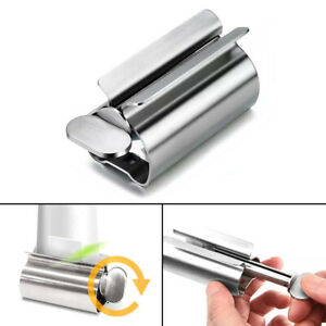 Stainless Steel Rolling Toothpaste Tube Squeezer Easy Dispenser Holder NEW