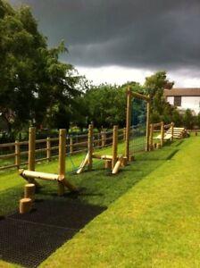 Heavy Duty Rubber Grassmats Safety Flooring Playground Gym Zoo Park Golf Walkway