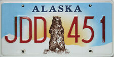 Alaska License Plate,  Original Kennzeichen  USA  JDD 451 ORIGINALSCAN