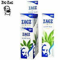 ZAGZ Blazin Blue Hemp Wrap Rolling Paper Full Box 25 Pouches / 2 Per Pack