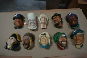 10 X  BOSSONS HEADS. JOB LOT. VINTAGE. COLLECTION. LOT 1