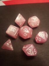 Pink Pearled set of 7 DnD ,RPG,ROle Playing Dice