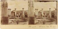 Italia Pompei Casa Dei Pansa, Foto Stereo Vintage Citrato PL61L11112