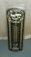 """""""FORD MOTOR CO. DETROIT MICH SINCE 1903"""" Metal Wall Thermometer 12"""" New Pack da"""