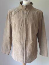 Unworn Damart Leather Jacket Nude/Beige/Light Brown Size 14