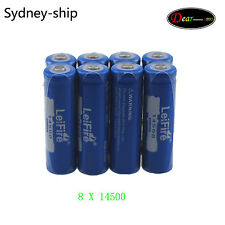 8 x 450mAh ICR 14500 3.7V AA Rechargeable Li-ion Battery For UltraFire LED Torch