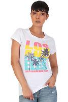 Women's Juniors Patriotic Casual Graphic Print Short Sleeve T-Shirt Top