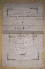 1889, Academy Of Music Program, 6th Annual Entertainment, Pennsylvania Museum