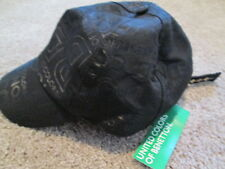 BRAND NEW Vintage & UNIQUE BENETTON Adjustable Ball Cap Blk Printed FREE SHIP!