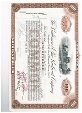 CANCELLED STOCK CERTIFICATE-B&O Railroad -100 shares....