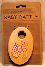 SugarBooger Wooden Shaker Baby Rattle  Hoot Owl