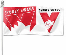 SYDNEY SWANS LARGE AFL Pole Flag LARGE 1800 x 900mm Man Cave Bar Game Day Gift