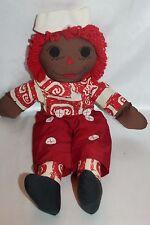 "Vintage Raggedy Andy Doll Black Americana 19"" Doll Handmade"