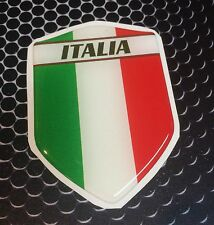 "Italia Italy Proud Shield Flag Domed Decal Emblem Car Sticker 3D 2.3""x 3.3"""