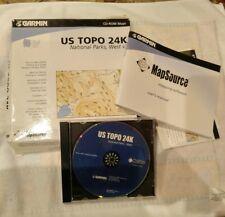 Garmin Mapsource US TOPO 24K National Parks, West Maps CD 010-10448-00 V2