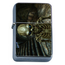 Skeletons D1 Windproof Dual Flame Torch Lighter Death Skulls