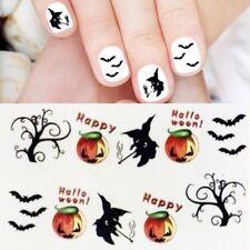 Halloween Nagelsticker Hexe Kürbis Nailart Sticker Nagelaufkleber Nails B918