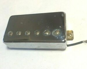 1990s Chrome Humbucker Electric Guitar Pickup, 8.8k