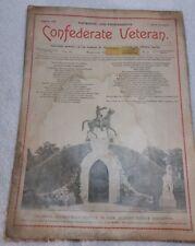 Rare ID'd A B Saxon CONFEDERATE VETERAN Magazine March 1895 Shiloh Reunion