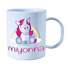 Personalised Plastic Unbreakable Kids Cup, Toddler Cup CUTE Unicorn for Girls
